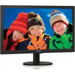 "Монитор 21.5"" PHILIPS 223V5LSB/00(01) Black (LED, LCD, Wide, 1920x1080, 5 ms, 170°/160°, 250 cd/m, 10M:1, +DVI)"